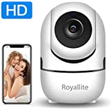 Royallite Wireless Security WiFi Camera,Camera for Home Security Surveillance with PTZ Two Way Audio Motion Detection Night Vision.
