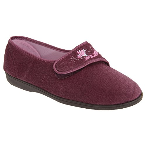 Pantofole con Chiusura a Strappo - Donna Blu navy