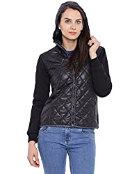 Campus Sutra Women Black Quilted Jacket(AW16_JK_W_P5_BL_L)