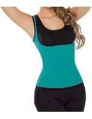 YC ® Mujeres Neopreno Fajas Chleco pantalon Cintura De Underbust Corsé Trainer Cuerpo Delgado (CHALECO VERDE L)