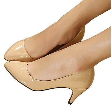 Moda Donna Sandali Sexy donna tacchi Primavera / Autunno T-cinturino in pelle di brevetto Office & Carriera / abito / Casual Stiletto Heel OthersBlack / blu / giallo / bianco / Black