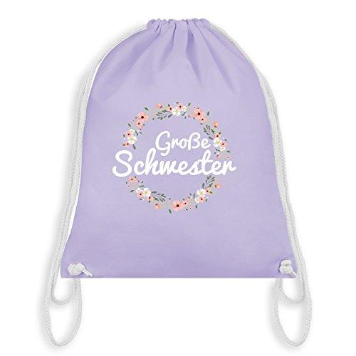 Geschwisterliebe Kind – Große Schwester Blumenkranz – Unisize – Pastell Lila – WM110 – Turnbeutel I Gym Bag