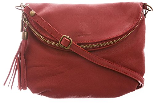 Big Handbag Shop - Borsa a tracolla donna (Red (LL281))