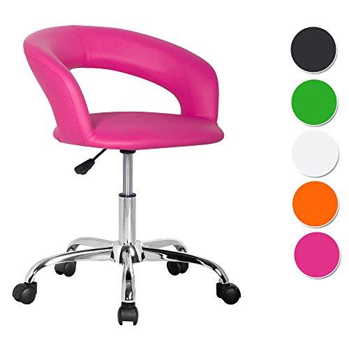 SixBros. Design Rollhocker Arbeitshocker Hocker Bürostuhl Pink- M-950982137