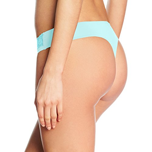 Sloggi Damen String Wow Lace Türkis (Blue Light (X6) X6)