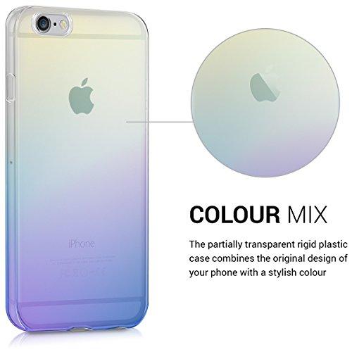 Kwmobile Custodia Chic Crystal Hard Case Super Sottile Per Apple Iphone 6 / 6S, Colore Trasparente blu giallo trasparente