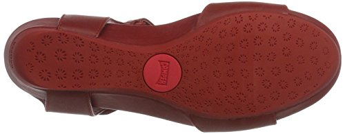 CAMPER Damen Supersoft Micro Negro Sandalen Rot (Medium Red 008)