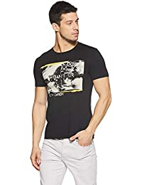 Wrangler Men's Printed Regular Fit T-Shirt