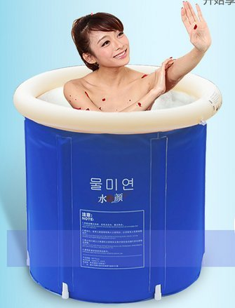 LIVY 75 * 75 erhöhen den verdickten kalte Material gefalteten aufblasbare Badewanne Badewanne Badewanne Bad Lauf