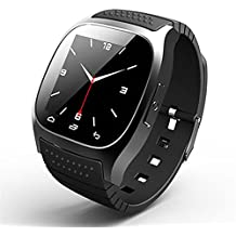 Reloj Inteligente Smartwatches Original M26 Bluetooth Smart Watch reloj de pulsera de lujo Rwatch smartwatch con Dial SMS Remind Pedometer para Android Samsung teléfono , black