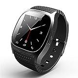 Smart Uhr Smartwatches Original M26 Bluetooth Smart Watch Luxus Armbanduhr Rwatch Smartphone mit Dial SMS erinnern Pedometer für Android Samsung Telefon , black