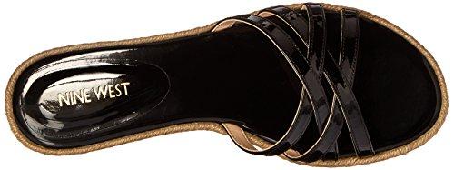 Nine West Vern synthétique Robe Sandal Black