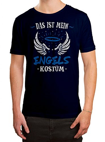 Engel Männer Köln (Kostüm Engel Premium T-Shirt | Verkleidung | Karneval | Fasching | Herren | Shirt, Farbe:Dunkelblau (French Navy L190);Größe:XL)