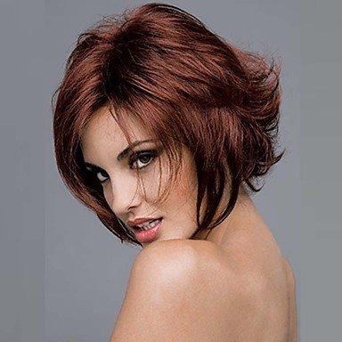 HJL-alta qualità parrucche sintetiche parrucca medio lunghi della donna parrucca diritta bugundy moda striscia partito capelli , fuxia