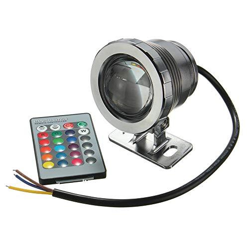 Lumière sous-marine imperméable de projecteur d'étang de piscine de fontaine de lumière de 10W RVB LED