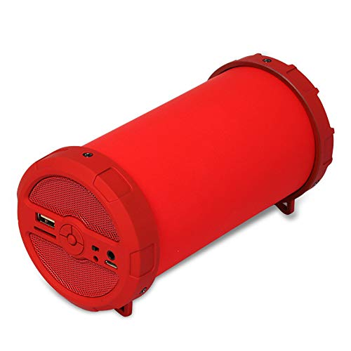 YIEWFI Bluetooth-Lautsprecher, professioneller und praktischer Super-Bass-Bluetooth-Lautsprecher, Auto-Outdoor-Lautsprecher,Red