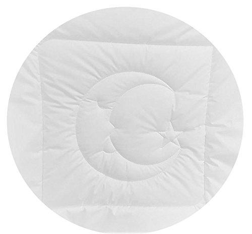 Luxus Comfort Wickeltuch Decke 100% Baumwolle Moon und Star blau