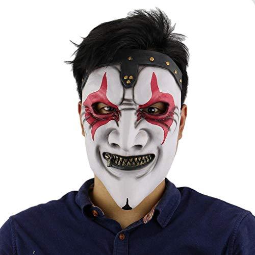 Zombie Reißverschluss Kostüm - DWcamellia Masken für Erwachsene Maske Slipknot Halloween Masken Horror Party Kostüm Requisiten Reißverschluss Mund Terror Zombie Latex Masken Realistische Maskerade