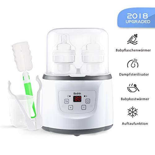 Baby Bottle Warmer Flaschenwärmer Flaschen Sterilisator 4 -in -1 Intelligenter Flaschenwärmer und Baby-Lebensmittel-Heizungsgerät für Muttermilch oder Babymilchpulver mit LCD-Echtzeit Anzeige
