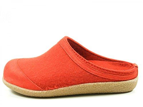 Haflinger Blizzard Saba 738018 Pantofole unisex Adulto Rot