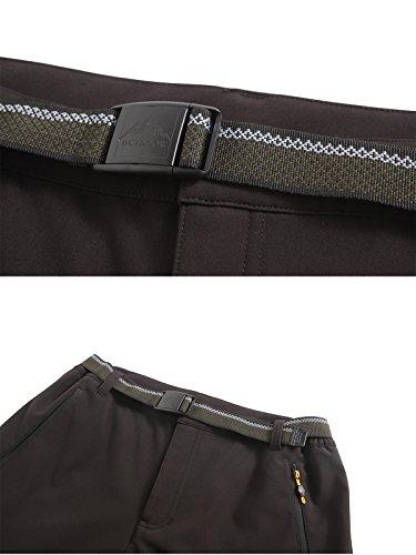 Softshell Trousers Men's Waterproof Windproof Fleece Lined Trousers Outdoor Walking Hiking Climbing Pants, Style 2:Black, Gr. EU-M/Asia-XL