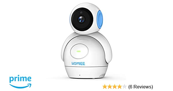 HOMIEE 720P Digital Robot Appearance Camera Exclusive for HOMIEE Baby  Monitor, Sound & Temperature Alert, Two Way Audio and Baby Lullabies, Night