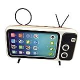 TianranRT Wireless Bluetooth Lautsprecher Mit Handy phoneTV Halter Tragbar Drahtlos Lautsprecher (Orange)
