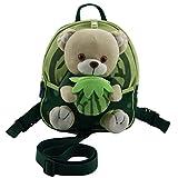 Happy Cherry Kinderrucksack Babyrucksack Kindergartenrucksack Mini Backpack Rucksack mit Sicherheitsgurte - mit Hasen / Bärchen Kuscheltier