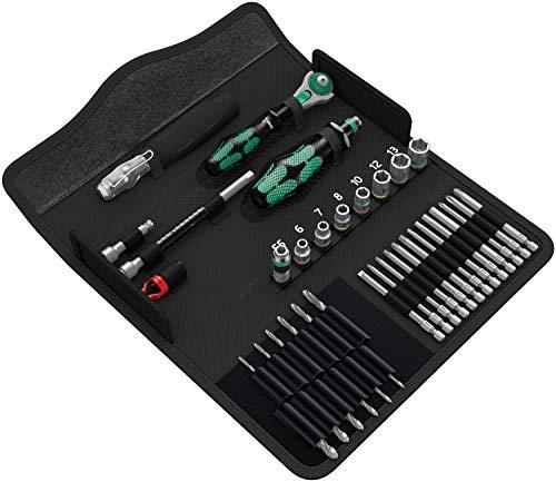 Wera 05135928001 Kraftform Kompakt M1 Metall, Werkzeug-Set, 39-teilig, Schwarz, Stück