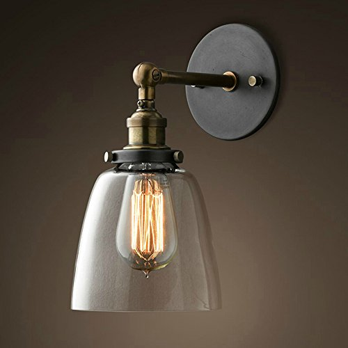 Lixada Lámparas Apliques de Pared Luces Clásicas Iluminación Vendimia Retro Rústico para E27 Bombilla Escalera Dormitorio Espejo Hotel