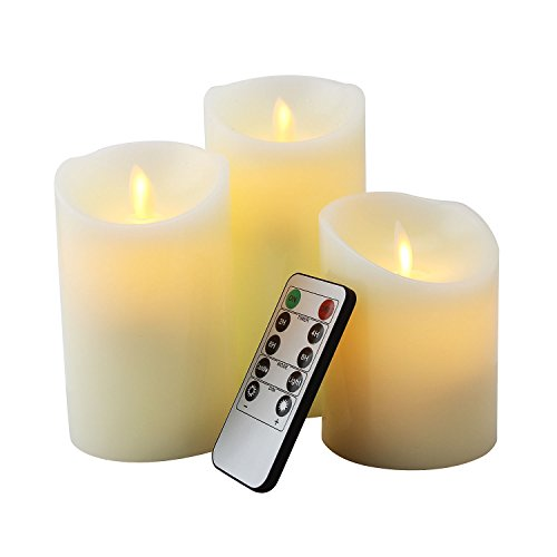 enlose Kerze Säule Timer Kerze mit 10Schlüsseln Fernbedienung (Bulk-taschenlampen)