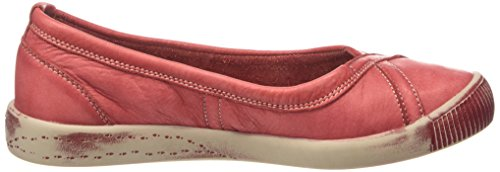 Softinos Ilma Washed, Ballerines fermées femme Rouge - Rot (red 522)