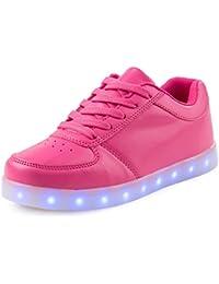 AFFINEST Niños LED Zapatos 7 Color de la Zapatilla con Luces de Deporte de Zapatos con la Carga del USB Glow Luminosos Light Up Flashing Sneakers