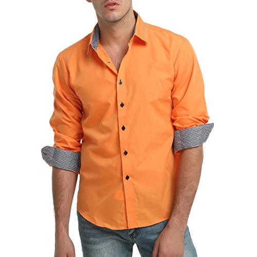 Herren CardiganShirt,TWBB Einfarbig Plaid Autumn Winter Revers Shirt Lange Ärmel Sweatshirt Männer Oberteile V-Ausschnitt Schlank Hemd Bluse