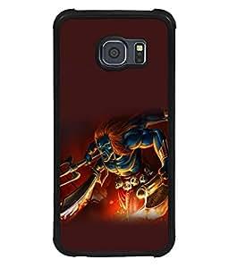 printtech Hindu Demon Angry Back Case Cover for Samsung Galaxy S6 Edge::Samsung Galaxy Edge G925