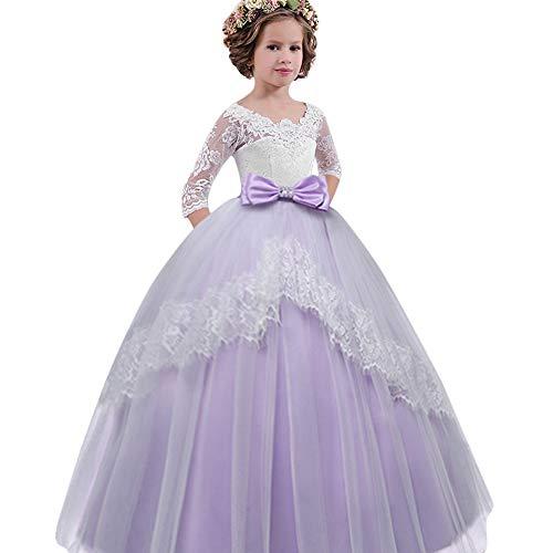 Weant vestito damigella bambina vestito cerimonia bambina ragazze di estate abito abito formale abbigliamento abito pizzo vestito da principessa vestito da festa manica lunga cosplay