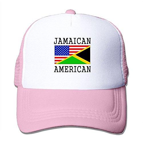 Doormats-shirt Unisex Jamaican American Flag Good Vibes Adjustable Mesh Hat Trucker Baseball Cap (Jamaican Hüte)
