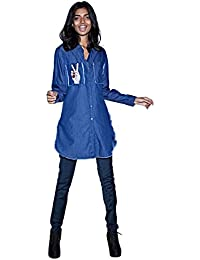 Rheson by Sonam & Rhea Kapoor Women's Peace Out Denim Jacket