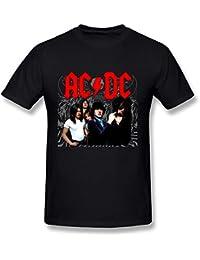 AC/DC - T-Shirt - Imprimé musique et film - Col Ras Du Cou - Manches Courtes Homme -  Rose - S