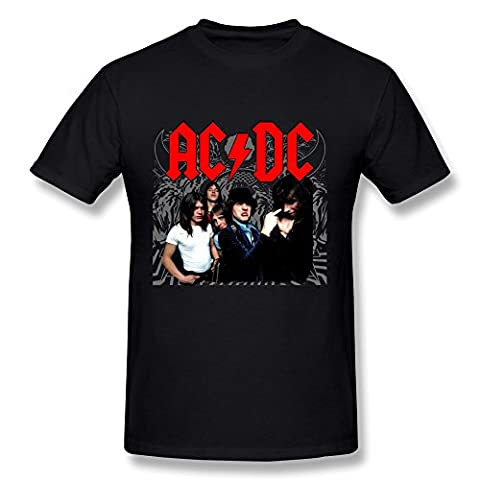 AC/DC - T-Shirt - Imprimé musique et film - Col