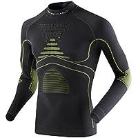 X-Bionic Unterwäsche Eacc.Evo Shirt Long SleeveTurtm - Ropa interior deportiva para hombre, color gris, talla S/M