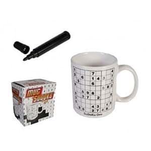 Mug Sudoku (livré avec un feutre noir)