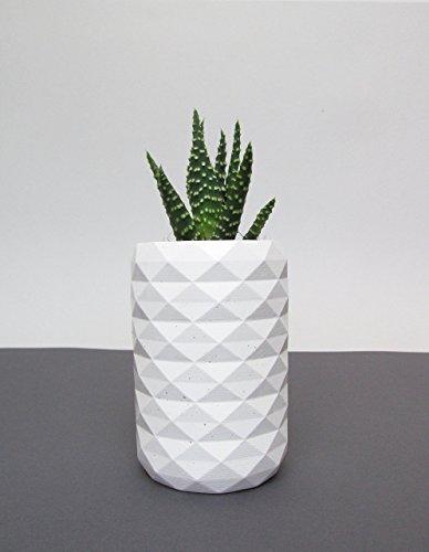white-concrete-geometric-vase-pot-planter-brush-holder