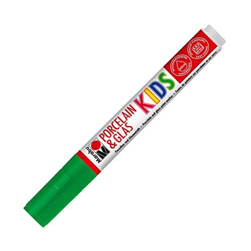 Marabu 012533068 - Porcelainund Glas Kids, dunkelgrün, Universalspitze 1-3mm