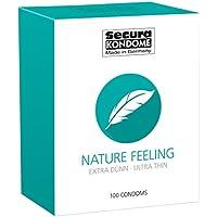 Preisvergleich für Secura Nature Feeling 100er Kondome - 100 hauchzarte Präservative zur Verhütung ohne Hormone für Männer, transparent