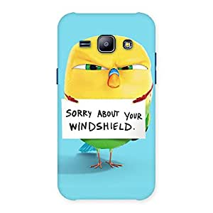 Cute Cute Sorry Print Back Case Cover for Galaxy J1