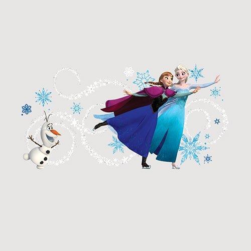 RoomMates RM - Disney Frozen Anna, ELSA & Olaf mit Alphabet Wandtattoo, PVC, bunt, 48 x 13 x 2.5 cm - Boy Wandtattoos Disney