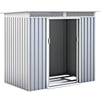 GARDIUN Caseta Metálica Kingston Silver/Blanco 3 m² Exterior - KIS12134