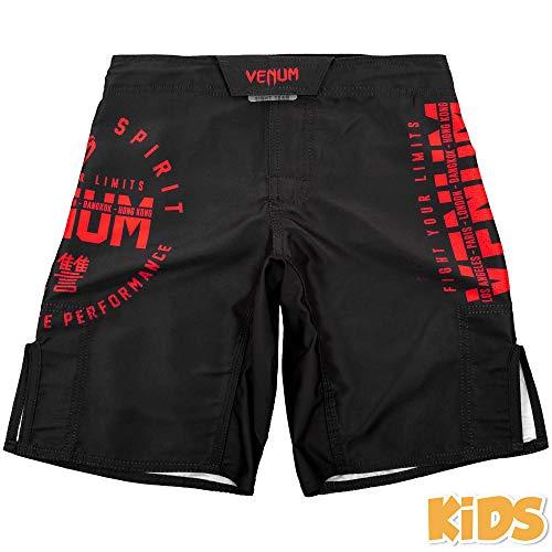 Venum MMA Shorts, Kinder, Signature, schwarz-rot Alter 8 J