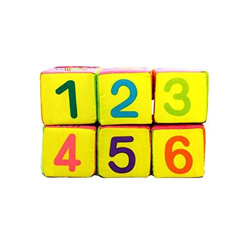 Adore store Baby-Tuch Rasseln Spielzeug-Baby-Tuch-Building Blocks Rattle weiche Würfel Kinder Vorschullernspielzeug 1Set (Spielzeug-blöcke Für Babys)